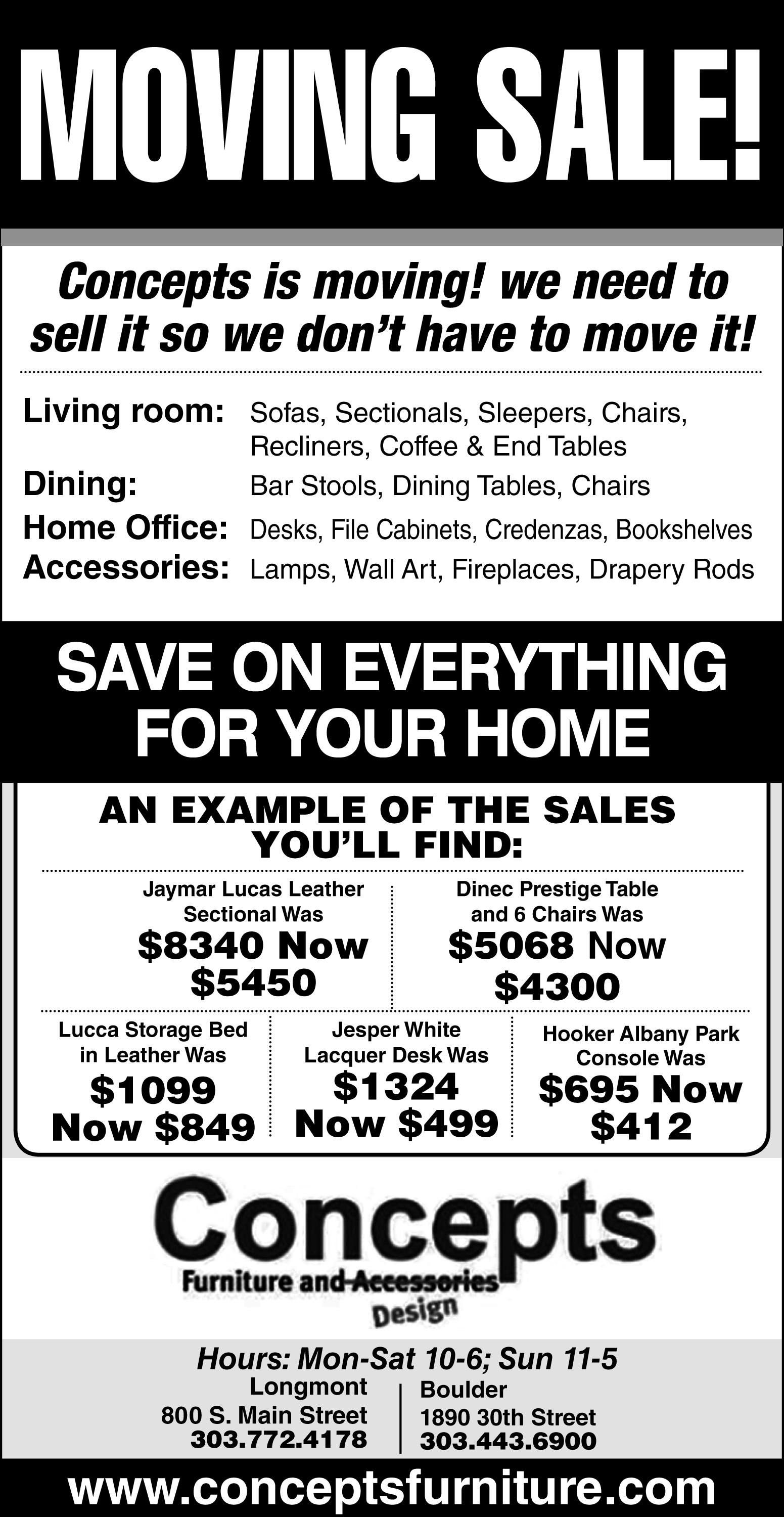 moving sale flyer