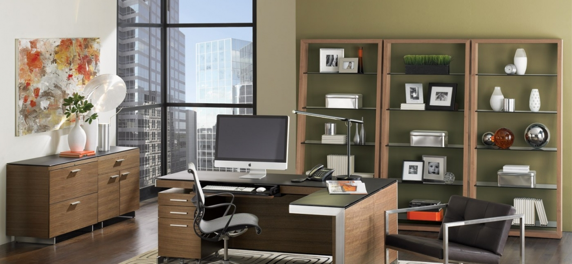 Sequel Office Walnut Bdi Modular Office Furniture 1 ...