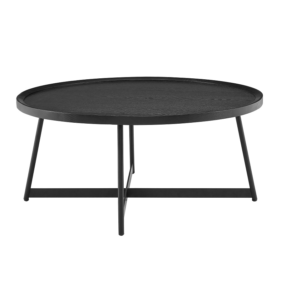 Niklaus 35 Round Coffee Table In Black Ash By Euro Style