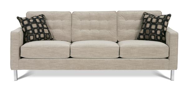 Abbott Sofa N120c Chrome Legs By Rowe Furniture