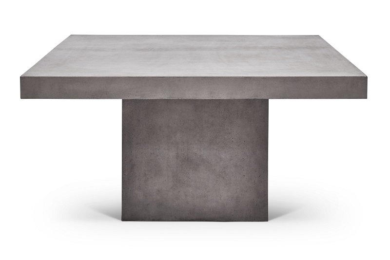 Una 54″ Square Concrete Dining Table by Urbia Imports