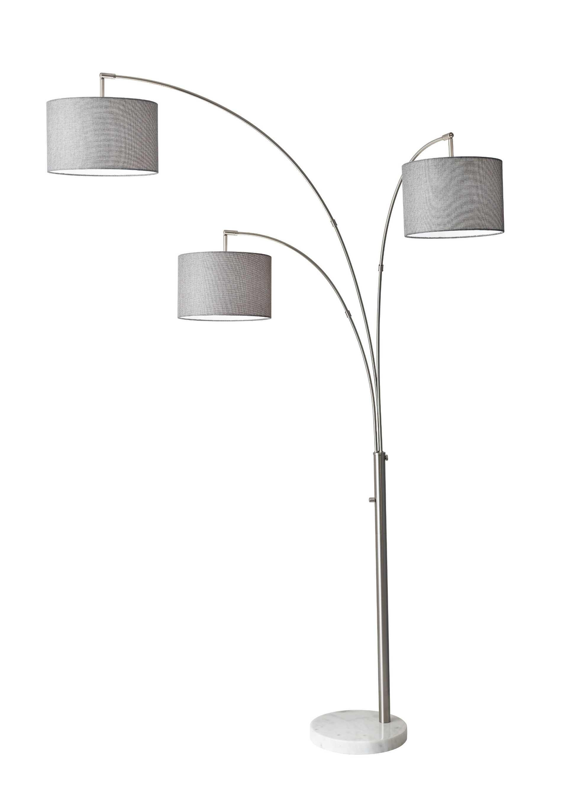 Bowery 3 Arm Arc Floor Lamp By Adesso Home