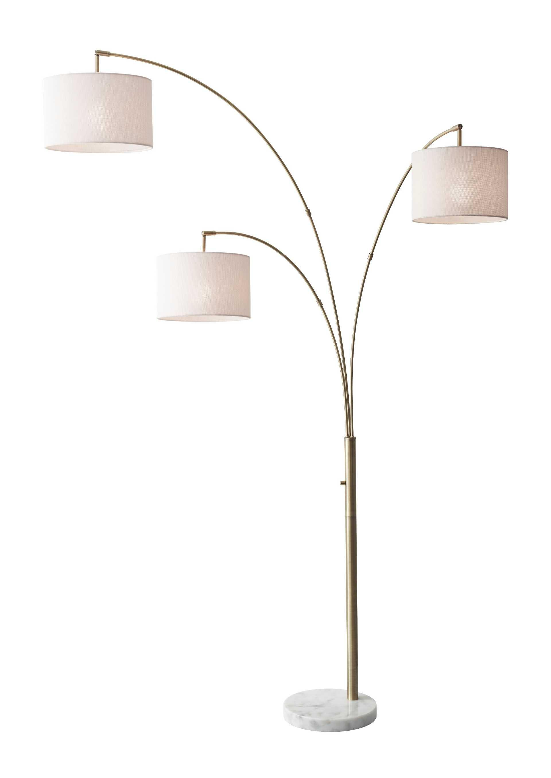 Bowery 3 Arm Arc Floor Lamp By Adesso Home Concepts Furniture