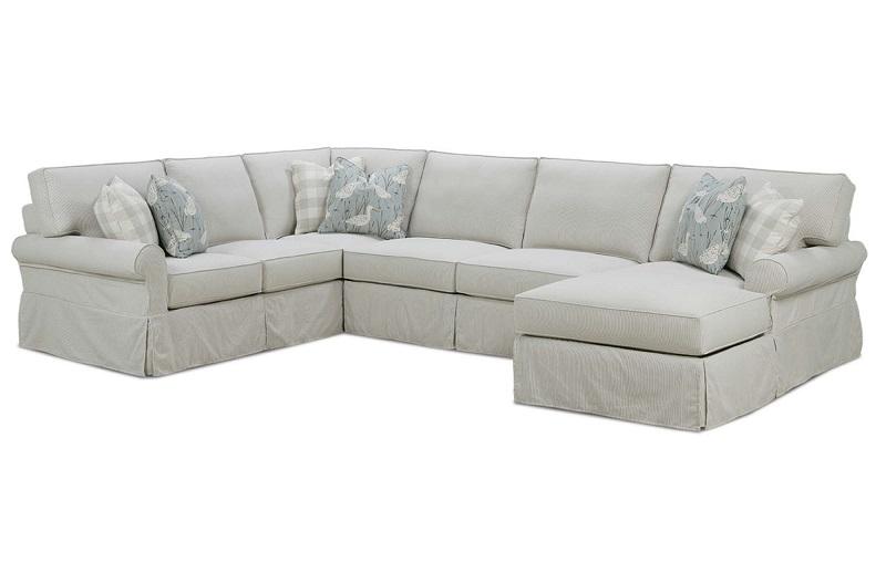 Astounding Easton Slipcover Sectional By Rowe Furniture Creativecarmelina Interior Chair Design Creativecarmelinacom